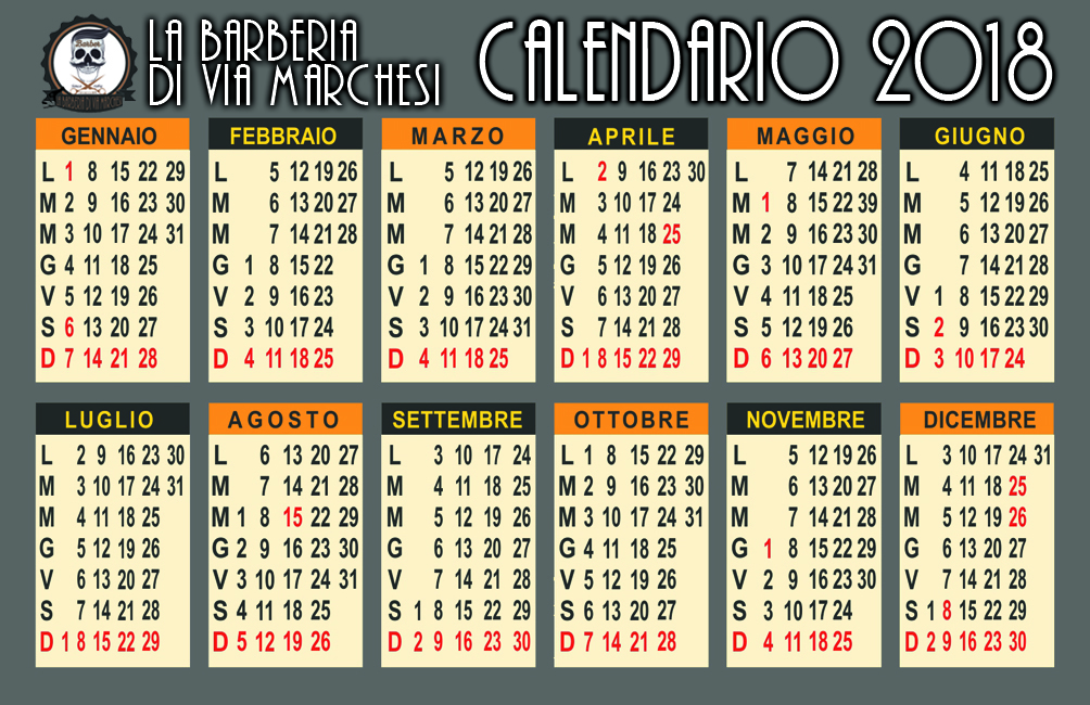 calendario barberia via marchesi retro